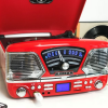 Steepletone Roxy 4 BT USB/CD Encode MP3/FM Radio Record Player (Red)