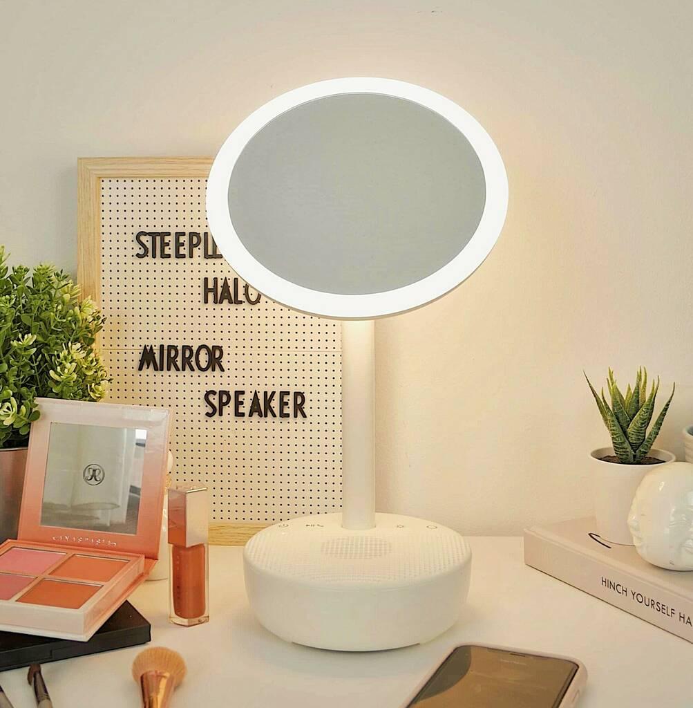 Steepletone Halo Makeup Mirror And Bluetooth Speaker