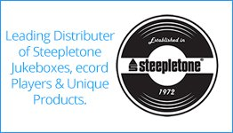 Leading Distributer of Steepletone Jukeboxes, ecord Players & Unique Products.